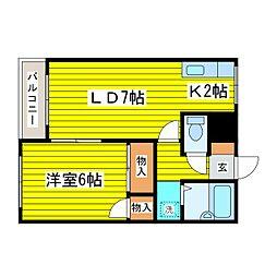 北海道札幌市東区北十一条東14丁目の賃貸マンションの間取り