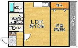 高山マンション[2階]の間取り