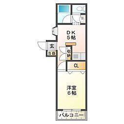 パークサイドマンション[401号室]の間取り