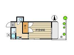 東京都世田谷区新町2丁目の賃貸アパートの間取り