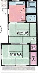 コーポ原田[201号室]の間取り