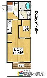 ハイコンプリートIV(D-room)[101号室]の間取り
