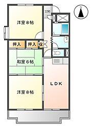 桜橋ハイツ[2階]の間取り