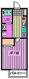 エスポワール戸田[101号室]の間取り