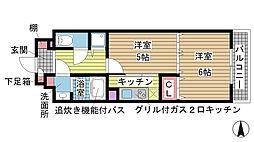 兵庫県神戸市兵庫区中道通1丁目の賃貸マンションの間取り
