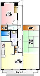アミル21・サルビア館[1階]の間取り