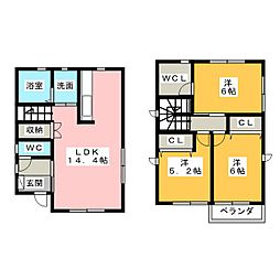 [一戸建] 愛知県名古屋市名東区猪高台1丁目 の賃貸【愛知県 / 名古屋市名東区】の間取り