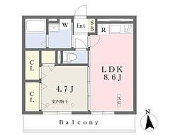 JR東北本線 福島駅 バス18分 町内下車 徒歩3分の賃貸アパート 3階1LDKの間取り