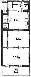 第五石峰ビル[2階]の間取り