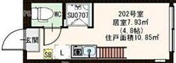 志茂2丁目Bコーポ[2階]の間取り