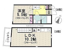 東京メトロ日比谷線 広尾駅 徒歩7分の賃貸マンション 2階1LDKの間取り