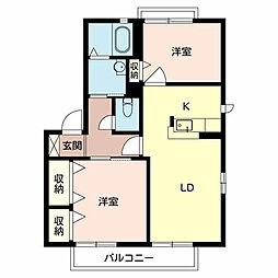 ガーデンパーク C[1階]の間取り
