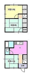 テラスアパート小又[1階]の間取り