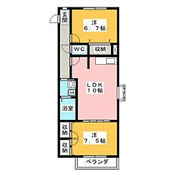 クレール樹木[2階]の間取り