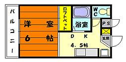 メゾンテイク[1階]の間取り