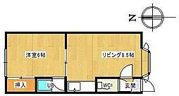 ソレイユII[107号室]の間取り