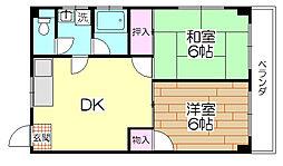 パールマンション[202号室]の間取り