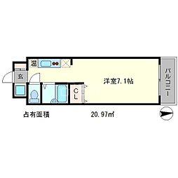 フォスマット松ヶ崎[2階]の間取り