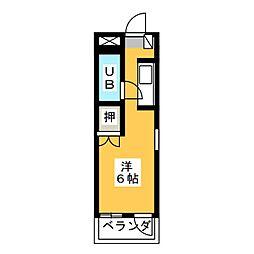 ハイツ尾洲[3階]の間取り