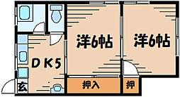広島県安芸郡府中町清水ケ丘の賃貸アパートの間取り