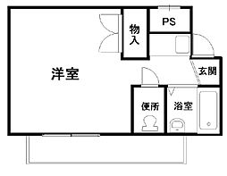 フジコーマンション小松里[2階]の間取り