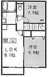 ビアンキ花崎B[203号室]の間取り