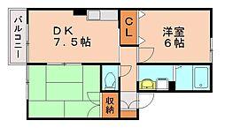 セジュール・アンファンS[2階]の間取り