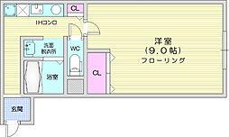 JR仙山線 東北福祉大前駅 徒歩10分の賃貸アパート 1階1Kの間取り