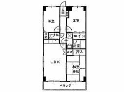 四国ホームハイツ観音寺[3階]の間取り