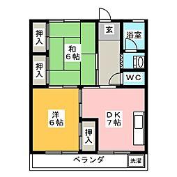 川富ビル[2階]の間取り