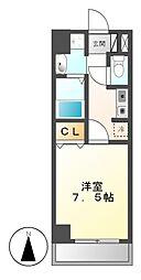 エスポワール亀島[4階]の間取り