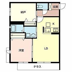 大阪府堺市堺区神明町東1丁の賃貸アパートの間取り