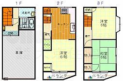 [一戸建] 大阪府東大阪市友井3丁目 の賃貸【/】の間取り