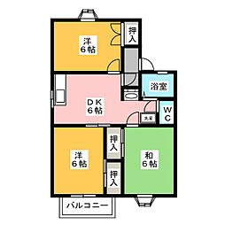 プレイスピュアタウンC[2階]の間取り