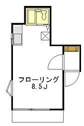 エクセル下馬III[1階]の間取り