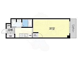 TOYOTOMI STAY Premium 梅田2 5階1Kの間取り