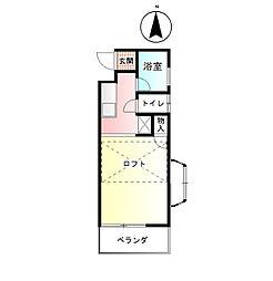 シルエットハイツ2階Fの間取り画像