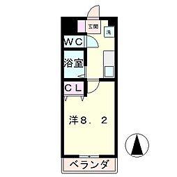 パレ岡本[6階]の間取り