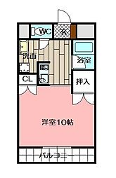 メゾン東武三萩野[707号室]の間取り