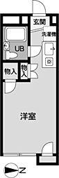メゾン椚田[216号室]の間取り
