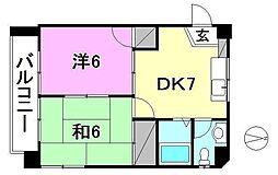メゾンド森井[402 号室号室]の間取り