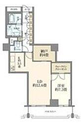 都営三田線 春日駅 徒歩2分の賃貸マンション 4階1LDKの間取り