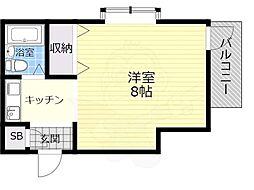 伊東ビル4階Fの間取り画像