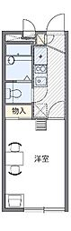 愛知県名古屋市天白区中平3丁目の賃貸アパートの間取り
