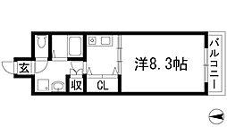 ルミエール千僧[3階]の間取り