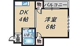 ストークハイツ北桜塚[107号室]の間取り