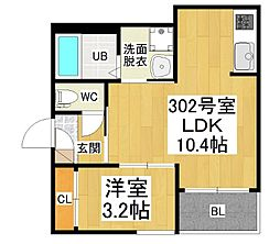 愛知県名古屋市西区名塚町5の賃貸アパートの間取り
