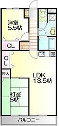 レインボーズマンション近藤[3A号室]の間取り