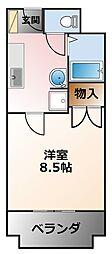 リッチライフ甲子園II[1階]の間取り