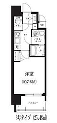 Osaka Metro谷町線 谷町六丁目駅 徒歩8分の賃貸マンション 5階1Kの間取り